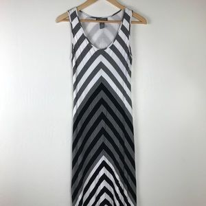 A Pea in the Pod Dresses - Gray and White Chevron High Low Maternity Dress